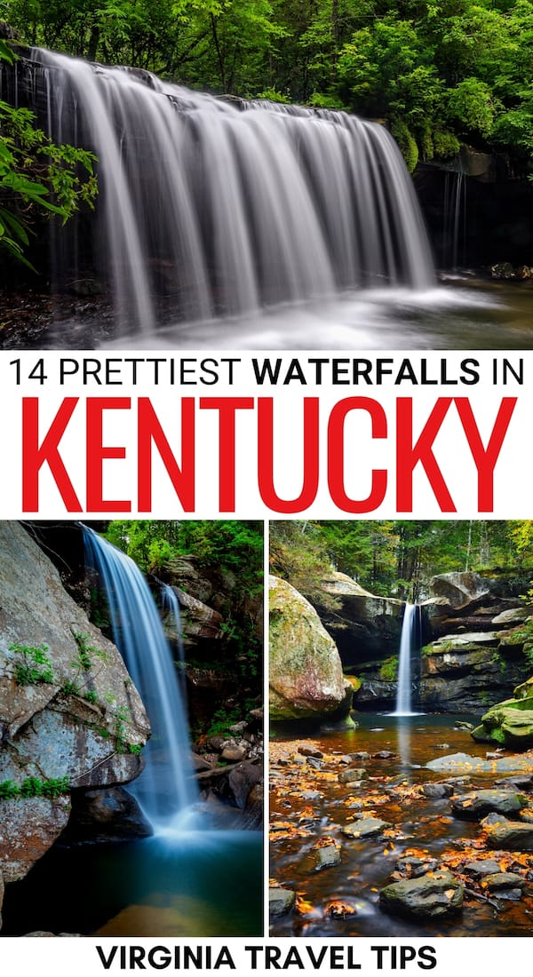 Are you looking to explore some of the most beautiful waterfalls in Kentucky? This guide has you covered- and it includes a map of the best Kentucky waterfalls! | Kentucky waterfall hikes | Waterfall hikes in Kentucky | Cumberland Falls Kentucky | Cumberland Falls State Park waterfalls | Places to visit in Kentucky | Hiking in Kentucky | Trails in Kentucky | Kentucky hiking | Kentucky hikes | Kentucky nature | Waterfalls near Lexington | Waterfalls near Louisville | Things to do in Kentucky