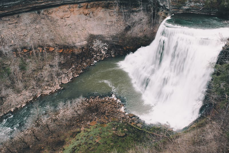 Burgess Falls in Cookeville