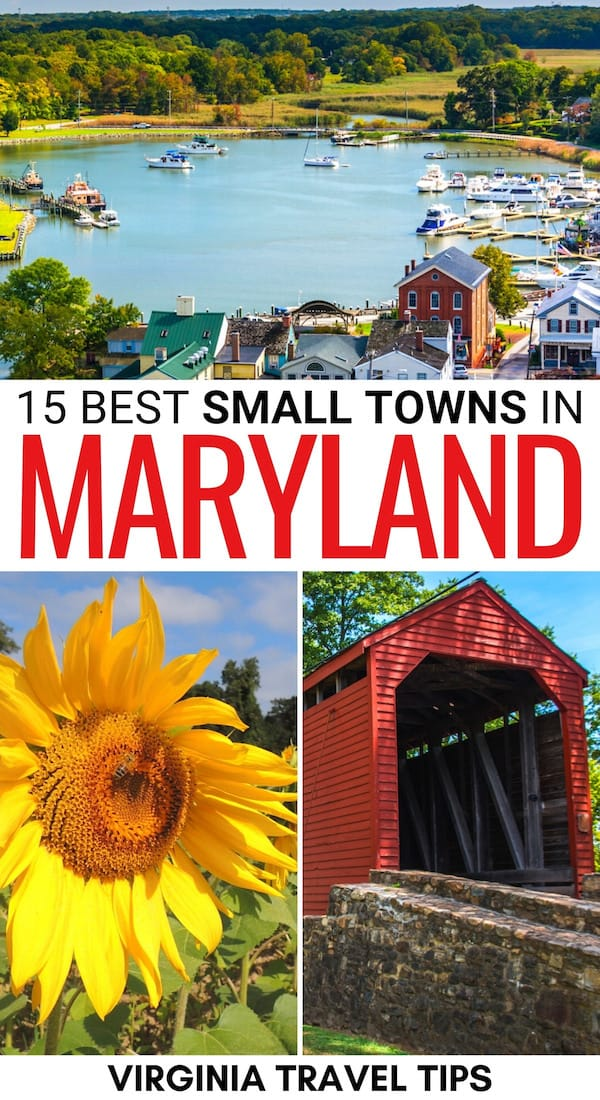 Are you looking to visit some of the best small towns in Maryland? This guide has you covered- showcasing cute Maryland small towns and how to visit them! | Maryland places to visit | Things to do in Maryland | Small towns in MD | MD small towns | Maryland villages | What to do in Maryland | Maryland itinerary | Maryland coastal towns | Visit Maryland | Maryland travel tips