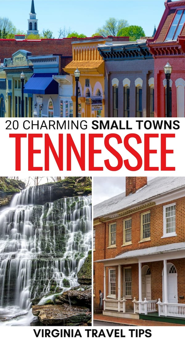 There are many small towns in Tennessee (and small cities) worth visiting when you're there. Here are some of the most charming ones (and reasons to visit each)! | Places to visit in Tennessee | Tennessee things to do | What to do in TN | Small towns in TN | TN towns | Tennessee hiking | Tennessee nature | Places to visit near Nashville | Great Smoky Mountains places to visit | East Tennessee places to visit | Things to do in Tennessee | Tennessee itinerary