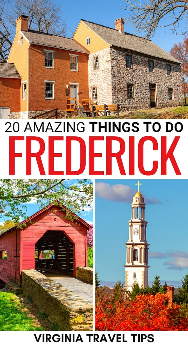 Are you on the search for the best things to do in Frederick, Maryland? This guide details the top Frederick attractions, where to eat, and much more! | Frederick things to do | Frederick landmarks | Frederick itinerary | Places to see in Frederick | Frederick parks | Frederick hiking | Frederick day trips | Attractions in Frederick | Frederick sightseeing | Frederick craft beer | Frederick coffee shops | Freerick restaurants