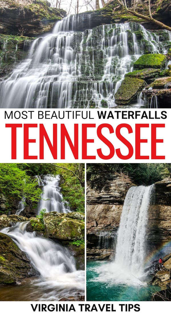 Looking for the best waterfalls in Tennessee? This guide has you covered! Click here to see the prettiest Tennessee waterfalls and how to find them! | TN Waterfalls | Waterfalls in TN | Great Smoky Mountains waterfalls | Waterfall hikes in TN | Waterfall hikes in Tennessee | Waterfalls near Nashville | Waterfalls near Chattanooga | Places to visit in Tennessee | Things to do in TN | Things to do in Tennessee | Tennessee attractions