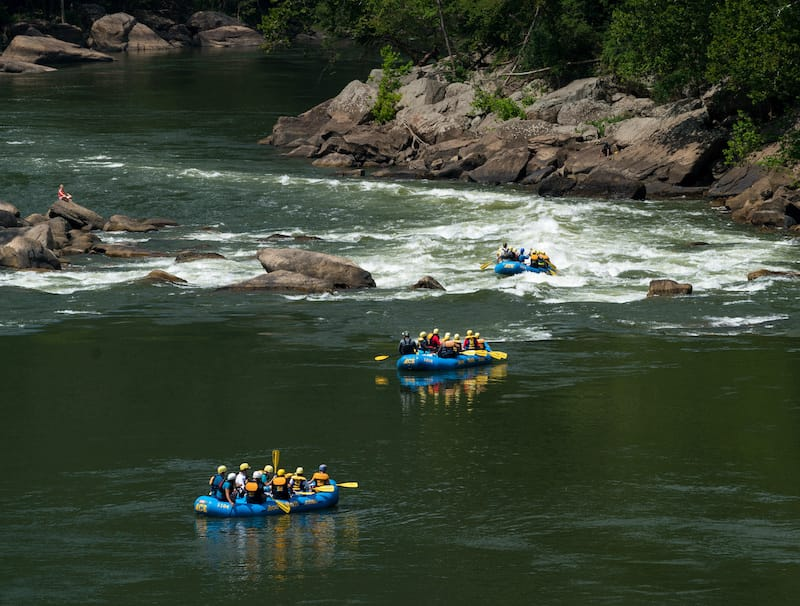 White Water Rafting in WV - Editorial credit- Steve Heap - Shutterstock.com