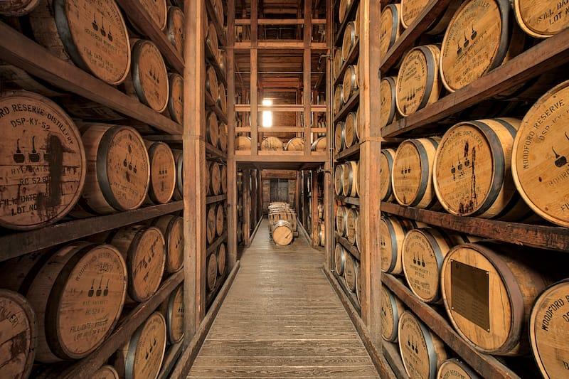 Woodford Reserve Barrel Room in Versailles