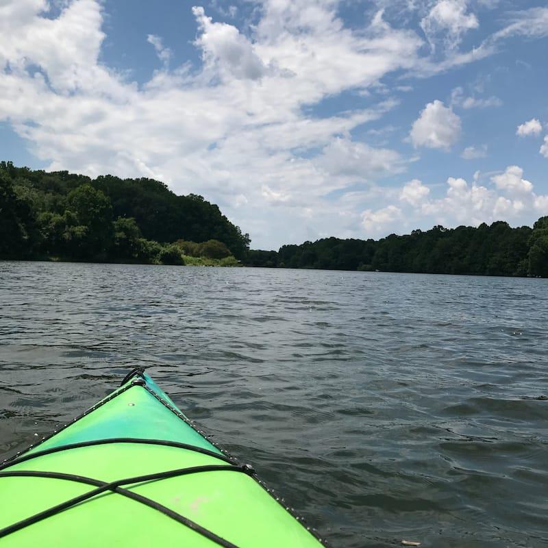 Kayaking in Centennial Park in MD