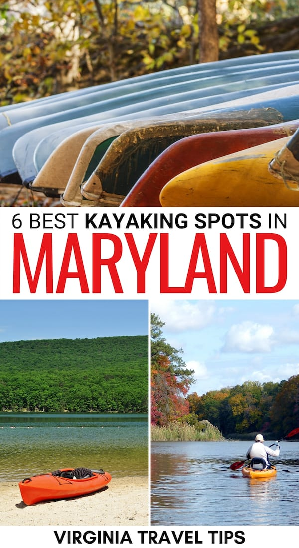 Are you looking to go canoeing and kayaking in Maryland? This guide details the best places to go canoeing in Maryland, the rules, and rental information. | Kayak Maryland | Canoe Maryland | Maryland Kayaking | Maryland Canoeing | Things to do in Maryland | Kayaking in MD | Canoeing in MD | Renting kayaks in Maryland | Places to visit in Maryland | Maryland Rivers | Maryland things to do | Kayaking Chesapeake Bay