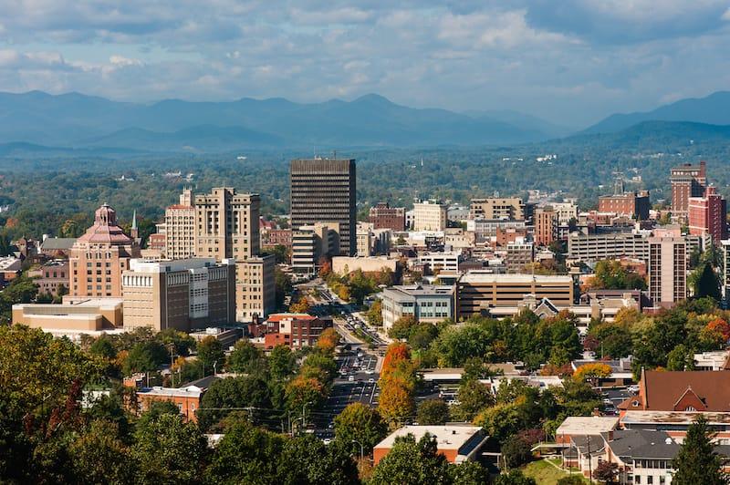 Asheville in fall