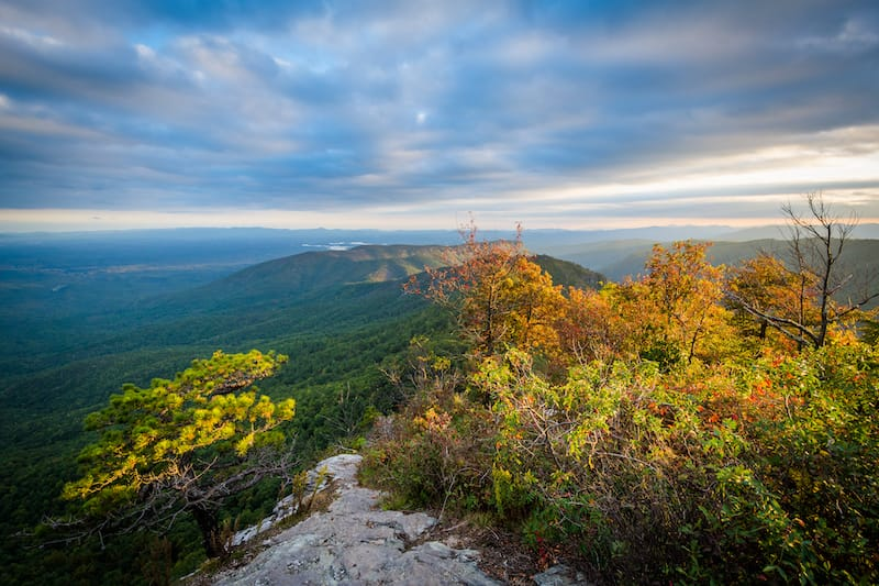 Early fall view from Table Rock